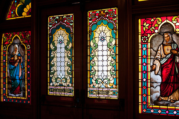 Stained glass windows. Seton Hill University, Greensburg, PA. Digital Humanities.
