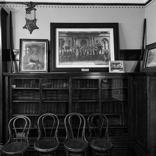 The Civil War Room. Andrew Carnegie Free Library and Music Hall. Carnegie, PA.