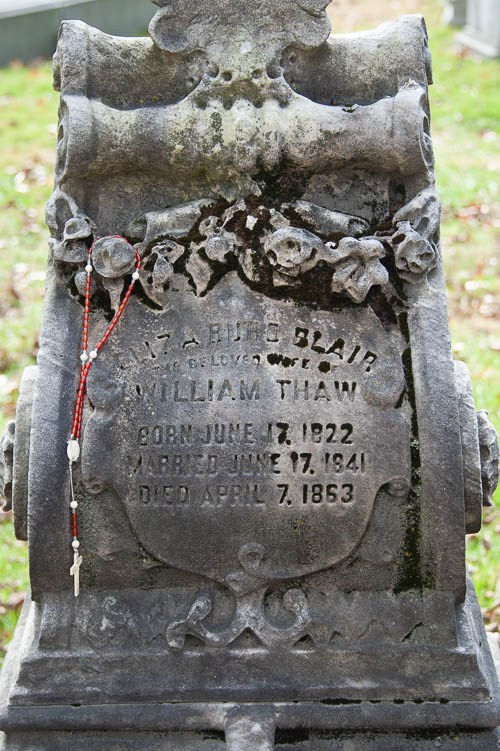 William Thaw Grave, Allegheny Cemetery, Pittsburgh
