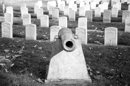 Cannon. Allegheny Cemetery, Pittsburgh, Pennsylvania.