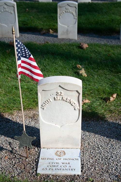 Corporal John M. Kendig (Civil War). He received the Medal of Honor.
